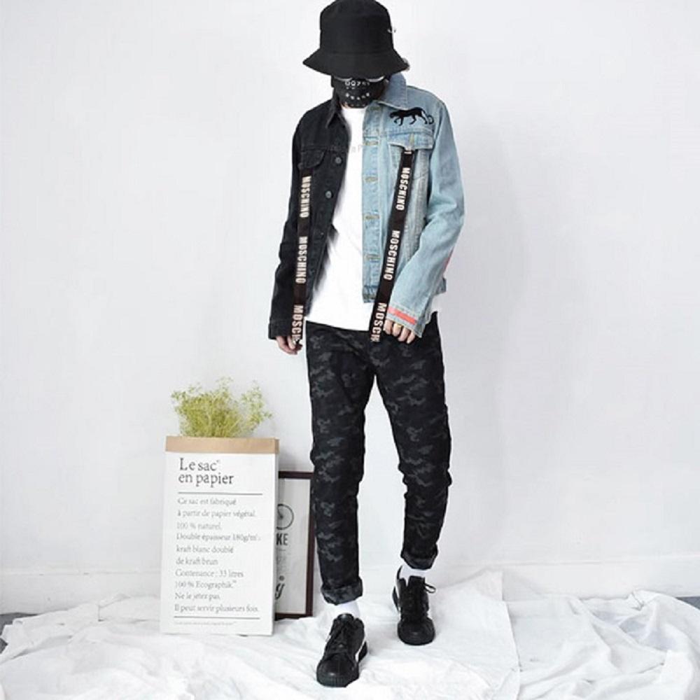 phối đồ áo khoác jean nam