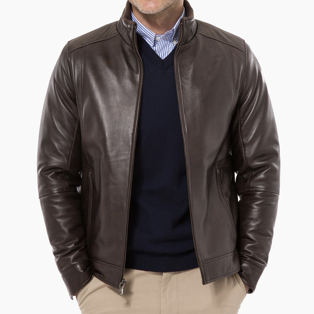 phối đồ với áo khoác da 04