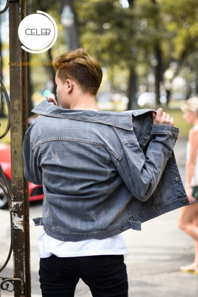 phối đồ áo khoác jean nam 4